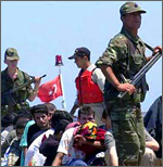 troops detaining immigrants